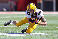 College Park, MD - October 15, 2016: Minnesota Golden Gophers wide receiver Drew Wolitarsky (82) catches a pass during game between Minnesota and Maryland at  Capital One Field at Maryland Stadium in College Park, MD.  (Photo by Elliott Brown/Media Images International)