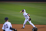 Ole Miss' Alex Yarbrough (2) throws to first for the out against Tulane at Oxford-University Stadium in Oxford, Miss. on Friday, March 4, 2010.