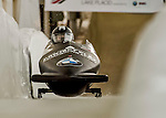 8 January 2016: Brittany Reinbolt, piloting her 2-man bobsled for the United States of America, enters the Chicane straightaway on her first run, ending the day with a combined 2-run time of 1:55.97 and earning a 9th place finish at the BMW IBSF World Cup Championships at the Olympic Sports Track in Lake Placid, New York, USA. Mandatory Credit: Ed Wolfstein Photo *** RAW (NEF) Image File Available ***