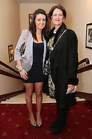 """NO REPRO FEE. 17/1/2010. The Field opening night. Maggie and Marie Keane are pictured at the Olympia Theatre for the opening night of John B Keanes 'The Field"""" Picture James Horan/Collins"""