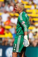 28 AUGUST 2010:  FC Dallas' Kevin Hartman (1) during MLS soccer game between FC Dallas vs Columbus Crew at Crew Stadium in Columbus, Ohio on August 28, 2010.