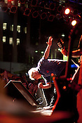 Robert Pollard of Guided By Voices takes a bow during the Hopscotch Music Festival, Friday, Sept. 8, 2011.