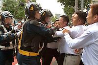 Anti Japanese emperor demo Tokyo 8-15-16