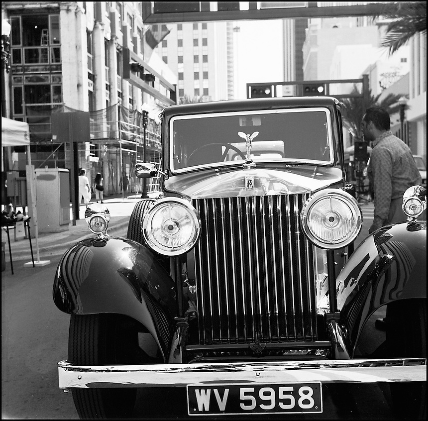 Rolls Royce<br /> From &quot;Miami in Black and White&quot; series. Downtown Miami, FL, 2007