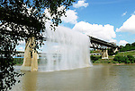 Waterfall on the Highlevel bridge August 1/99. PHOTO BY IAN JACKSON
