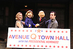 """""""Avenue Q"""" hosts a Town Hall with Clinton & Trump Puppets"""