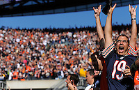 Bret Bonnet of North Aurora cheers before the start of the Chicago Bears against the Washington Redskins at Solider Field in Chicago on Sunday, October 24, 2010.   |  Jonathan Miano~Staff photographer ..