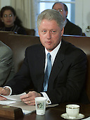 United States President Bill Clinton makes remarks during a cabinet meeting at the White House in Washington, DC on November 27, 2000.<br /> Credit: Mark Wilson - Pool / CNP