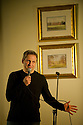 """09.11.11. Harrogate, UK. """"Sitting Room"""" comedy club holds its regular monthly gig at the St George Hotel, Harrogate. the line up is: Tom Taylor (MC), Simon Lipson, Bryan Lacey and Felix Dexter. Picture shows Simon Lipson. Mandatory credit: Jane Hobson."""