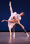 Olga Smirnova & Semyon Chudin from the Bolshi Ballet performing  'Grand Pas Classique' during the rehearsal for 'Stars of the 21st Century' at the David H. Koch Theater at Lincoln Center  on October 18, 2012 in New York City.