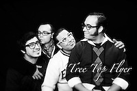 19 November 2010: Tree Top Flyer band members in studio for fun photo session. Personal/Internal/Non-Commercial Use Only.  .Paul Lapinsky, Ebby Safari, Robert Jacobs, Brian Schuler.