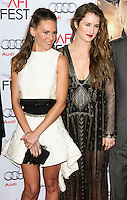 HOLLYWOOD, LOS ANGELES, CA, USA - NOVEMBER 11: Hilary Swank, Grace Gummer arrive at the AFI FEST 2014 - 'The Homesman' Gala Screening held at the Dolby Theatre on November 11, 2014 in Hollywood, Los Angeles, California, United States. (Photo by Xavier Collin/Celebrity Monitor)