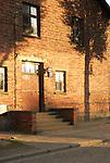 Entrance door in block 10 barrack, Auschwitz concentration camp