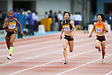 (L to R) Allyson Felix (USA), Chisato Fukushima (JPN), Anna Doi (JPN), .MAY 6, 2012 - Athletics : .SEIKO Golden Grand Prix in Kawasaki, Women's 100m .at Kawasaki Todoroki Stadium, Kanagawa, Japan. .(Photo by Daiju Kitamura/AFLO SPORT) [1045]