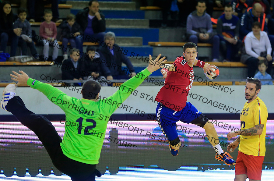Rukomet-Handball<br /> Srbija v Rumunija-Prijateljski mec friendly match<br /> Darko Dukic (C)<br /> Beograd, 28.12.2015.<br /> foto: Srdjan Stevanovic/Starsportphoto&copy;