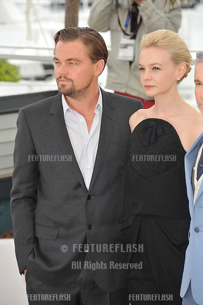 """Leonardo DiCaprio & Carey Mulligan at the photocall for their movie """"The Great Gatsby"""" at the 66th Festival de Cannes..May 15, 2013  Cannes, France.Picture: Paul Smith / Featureflash"""