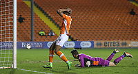 Blackpool's Jamille Matt holds his head after missing a late opportunity<br /> <br /> Photographer Alex Dodd/CameraSport<br /> <br /> The EFL Sky Bet League Two - Blackpool v Stevenage - Tuesday 14th March 2017 - Bloomfield Road - Blackpool<br /> <br /> World Copyright &copy; 2017 CameraSport. All rights reserved. 43 Linden Ave. Countesthorpe. Leicester. England. LE8 5PG - Tel: +44 (0) 116 277 4147 - admin@camerasport.com - www.camerasport.com