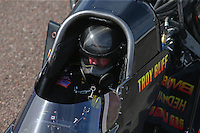 Feb 21, 2015; Chandler, AZ, USA; NHRA top fuel driver Troy Buff during qualifying for the Carquest Nationals at Wild Horse Pass Motorsports Park. Mandatory Credit: Mark J. Rebilas-