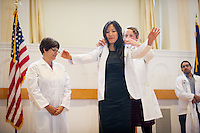 Tania Bertsch, M.D., Lillian Chang, Christa Zehle, M.D. Class of 2017 White Coat Ceremony.