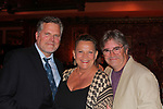 Brendon Ragotzy (Barn Theatre) poses with Guiding Light's Kim Zimmer and Robert Newman who are headline at Barn Theatre - A Celebration at Feinsteins/54 Below, New York City, New York on April 28. 2017. Barn Theatre is located in Augusta, Michigan.  (Photo by Sue Coflin/Max Photos)