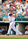 6 March 2012: Atlanta Braves infielder Andrelton Simmons in action during a Spring Training game against the Washington Nationals at Champion Park in Disney's Wide World of Sports Complex, Orlando, Florida. The Nationals defeated the Braves 5-2 in Grapefruit League action. Mandatory Credit: Ed Wolfstein Photo