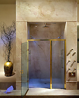 Master Bath Exotic Shower,  interior, lifestyle, decor, Contemporary, Modern, No People, Photo, Image, Photography