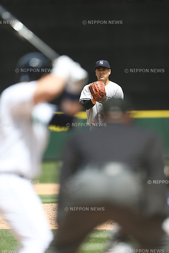 Masahiro Tanaka (Yankees),<br /> JUNE 3, 2015 - MLB :<br /> Pitcher Masahiro Tanaka of the New York Yankees during the Major League Baseball game against the Seattle Mariners at Safeco Field in Seattle, Washington, United States. (Photo by Thomas Anderson/AFLO) (JAPANESE NEWSPAPER OUT)