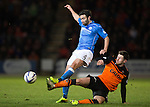 St Johnstone v Dundee United...27.12.14   SPFL<br /> Simon Lappin and Calum Butcher<br /> Picture by Graeme Hart.<br /> Copyright Perthshire Picture Agency<br /> Tel: 01738 623350  Mobile: 07990 594431
