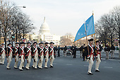 Washington, DC - January 20, 2009 -- The United States Army 3rd Infantry (Old Guard) Commander-in-Chief?s Guard march down Pennsylvania Avenue during the 2009 presidential inaugural parade in Washington, D.C., Tuesday, January 20, 2009.  More than 5,000 men and women in uniform are providing military ceremonial support to the presidential inauguration, a tradition dating back to George Washington's 1789 inauguration. .Credit: Mark O'Donald - DoD via CNP