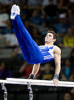 Alexander Naddour of Hilton HHonors competes on Parallel Bars during the 2012 US Olympic Trials competition at HP Pavilion in San Jose, California on June 28th, 2012.