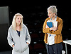 People, Places and Things <br /> by Duncan Macmillan <br /> directed by Jeremy Herrin <br /> at the Dorfman Theatre, NT, Southbank, London, Great Britain <br /> press photocall <br /> 28th August 2015 <br /> <br /> Denise Gough as Emma <br /> Barbara Marten as Dr <br /> <br /> <br /> Photograph by Elliott Franks <br /> Image licensed to Elliott Franks Photography Services