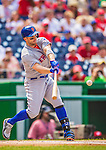 27 July 2013: New York Mets third baseman David Wright in action against the Washington Nationals at Nationals Park in Washington, DC. The Nationals defeated the Mets 4-1. Mandatory Credit: Ed Wolfstein Photo *** RAW (NEF) Image File Available ***