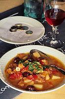"""Europe/France/Provence-Alpes-Côte d'Azur/06/Alpes-Maritimes/Nice: Morue niçoise - Recette de Domnique Le stanc du restaurant """"La Merenda"""""""