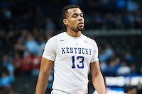 BROOKLYN, NY - Saturday December 19, 2015: Isaiah Briscoe (#13) of Kentucky and his Wildcats take on the Ohio State Buckeyes as the two teams square off in the CBS Classic at Barclays Center in Brooklyn, NY.