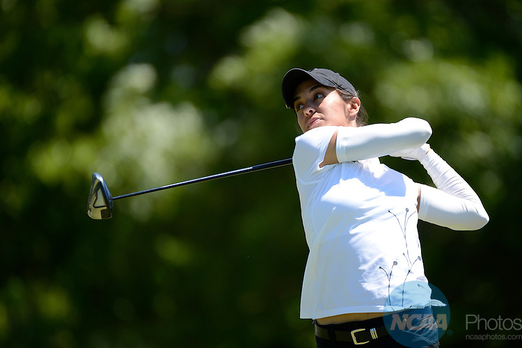 24 MAY 2013:  Paula Reto of Purdue University tees off during the Division I Women's Golf Championship takes place at the University of Georgia Golf Course in Athens, GA.  Reto shot a -2 to place third.  Jamie Schwaberow/NCAA Photos