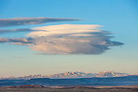 Lenticular clouds over the Absaroka Front in Wyoming