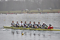 001 PangbourneColl SEN.8+.Marlow Regatta Committee Thames Valley Trial Head. 1900m at Dorney Lake/Eton College Rowing Centre, Dorney, Buckinghamshire. Sunday 29 January 2012. Run over three divisions.