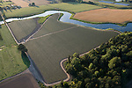 Aerial view over Vision Logic's orchard of apple trees near Dayton, Willamette Valley, Oregon