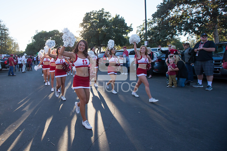STANFORD, CA - OCTOBER 8, 2016: Stanford Football vs Washington State at Stanford Stadium on Saturday night. The Cougars defeated the Cardinal 42-16.