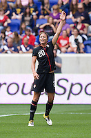 Abby Wambach (20) of the USWNT  calls for the ball during the game at Red Bull Arena in Harrison, NJ.  The USWNT defeated Mexico, 1-0.
