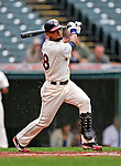 13 September 2008: Cleveland Indians' outfielder Franklin Gutierrez in action against the Kansas City Royals at Progressive Field in Cleveland, Ohio. The Indians fell to the Royals 8-3 in the first game of their rain delayed double-header...Mandatory Photo Credit: Ed Wolfstein Photo