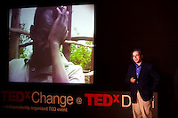 Peter Singer speaks on stage at the India Islamic Cultural Centre during the TEDxChange @ TEDxDelhi in New Delhi, India on 22nd March 2011..