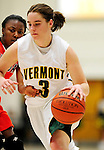 13 December 2009: University of Vermont Catamounts' guard Courtnay Pilypaitis, a Senior from Ottawa, Ontario, in action against the Oklahoma State University Cowgirls at Patrick Gymnasium in Burlington, Vermont. The Lady Cats were unable to hold onto a second half lead, falling to the Cowgirls 68-63. Mandatory Credit: Ed Wolfstein Photo