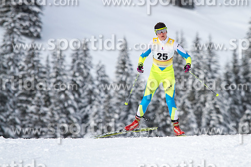 Martina Jakopic competing in cross country at 12th European Youth Olympic Winter Festival in Vorarlberg and Liehtenstein on January 28, 2015. (Photo by Peter Kastelic / Sportida.com)