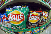 A display of tasty Frito-Lay brand chips in a supermarket in New York on Friday, May 25, 2012. (© Richard B. Levine)