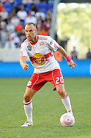 Joel Lindpere (20) of the New York Red Bulls during a Major League Soccer (MLS) match at Red Bull Arena in Harrison, NJ, on October 09, 2010.