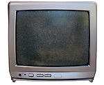 Old Analogue Portable Television Set