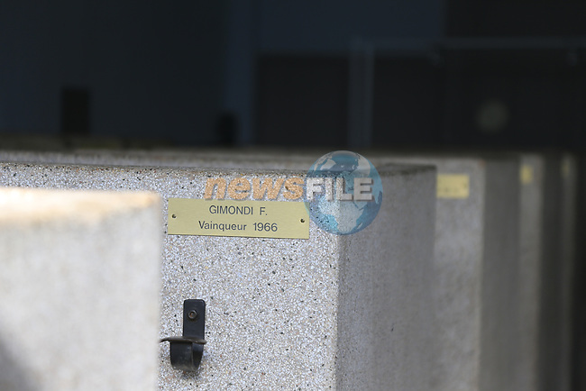 The old showers with previous winner's nameplates, beside the Roubaix velodrome in preparation for the upcoming 115th edition of the Paris-Roubaix 2017 running 257km from Compiegne to Roubaix, France. 8th April 2017.<br /> Picture: Eoin Clarke   Cyclefile<br /> <br /> <br /> All photos usage must carry mandatory copyright credit (&copy; Cyclefile   Eoin Clarke)