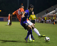 The number 24 ranked Furman Paladins took on the number 20 ranked Clemson Tigers in an inter-conference game at Clemson's Riggs Field.  Furman defeated Clemson 2-1.  Marco Ortiz (13), Phanuel Kavita (18)