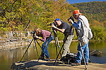 Photographers, Ozark Mountains, Arkansas, autumn